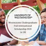 Westminster Undergraduate Full Scholarships