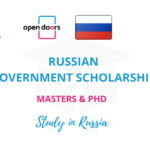RUSSIAN GOVERNMENT SCHOLARSHIP 2021 FOR MASTERS AND PHD