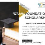 WAAW Foundation Scholarships 2020/2021