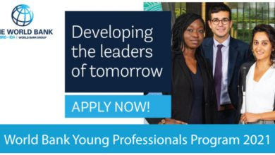 Photo of The World Bank Young Professionals Program (WBG YPP)-2021 -Apply Today !!!