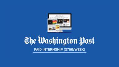 Photo of Paid Internship at Washington Post 2021 in United States ($750/week)